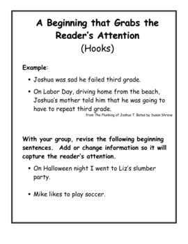 Personal Narrative Mini-lessons