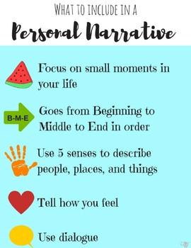 Personal Narrative Minilesson