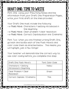 Personal Narrative: Multi-Draft First-Person Writing for Grade 3 (CCSS)