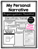 Personal Narrative Organization Booklet {Distance Learning}