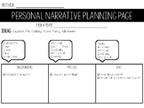 Personal Narrative Organizer