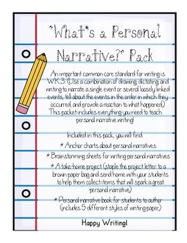 Personal Narrative Pack