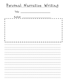 Personal Narrative Packet
