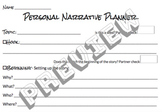 Personal Narrative Planner