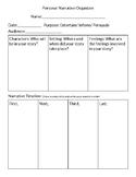 Personal Narrative Planning Sheet