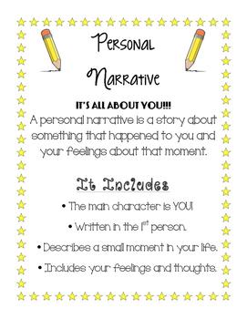 Personal Narrative Poster