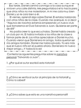 Personal Narrative Practice (in spanish)