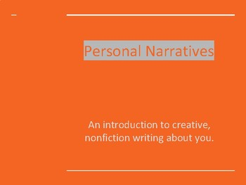 Personal Narrative Project