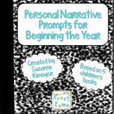 Personal Narrative Prompts for Beginning the Year