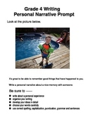 Personal Narrative Prompts in Format for Elementary Students