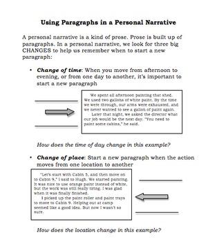 Personal Narrative Resources