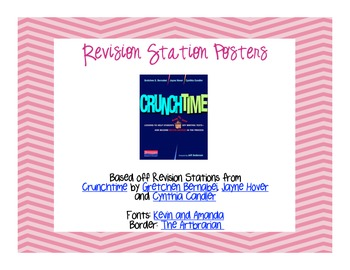 Personal Narrative Revision Stations