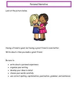 Personal Narrative STAAR Prompts & Quick Writes