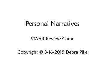 Personal Narrative STAAR Writing Review Game