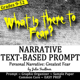Prompt Personal Narrative {Fear} with Exemplar & Stimulus, Great for Halloween