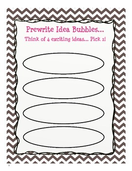 Personal Narrative Second Grade Writing Packet {common core 2.W.2.3}