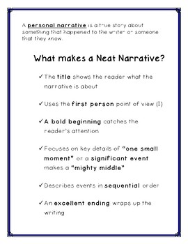 Personal Narratives: Secret Stories