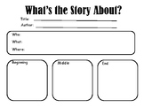 Personal Narrative/Small Moment Graphic Organizer