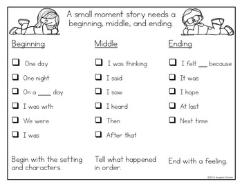Writing small moment template with sentence starters narrative writing small moment template with sentence starters pronofoot35fo Gallery