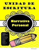 Personal Narrative Writing Unit (Spanish)
