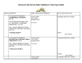 Personal Narrative Standard Based Peer Feedback Form