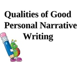Personal Narrative Stratagies