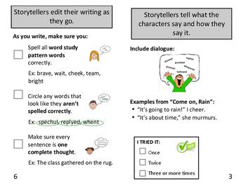 Personal Narrative Strategies Booklet
