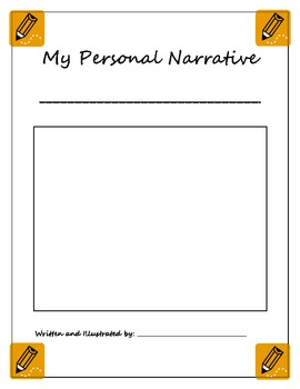 personal narrative template by shaping elementary minds tpt
