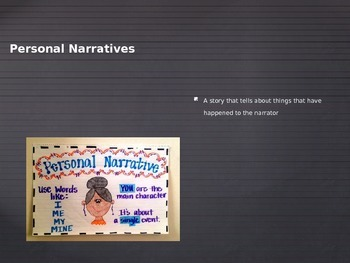 Personal Narrative Vocabulary Power Point (In English)