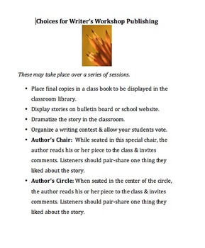 Personal Narrative Writer's Workshop