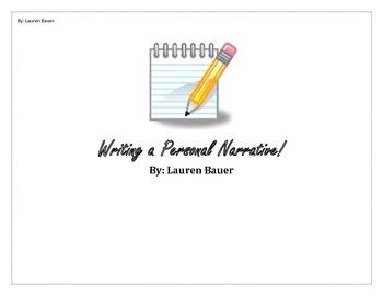 Personal Narrative Writing Activity