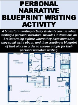 Personal Narrative Blueprint Writing Activity