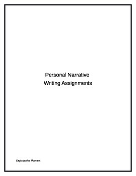 Personal Narrative Writing Assignments