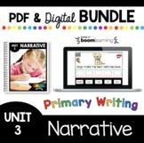 Personal Narrative Writing Bundle - PDF and Boom Card™ Kindergarten First Grade