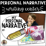 Personal Narrative Writing Center: Photo Prompt Cards and Writing Paper