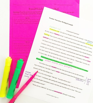 Personal Narrative Writing Complete Unit