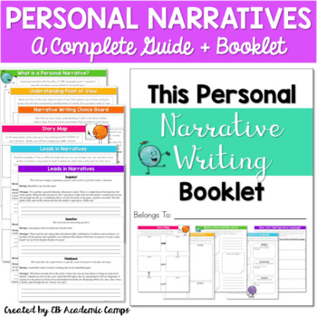 Personal Narrative Writing Complete Unit for Middle School