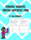 Personal Narrative Writing Conference Form