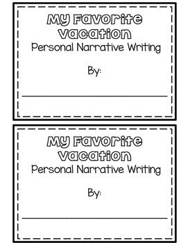 Personal Narrative Writing Craftivity- My Favorite Vacation
