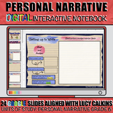 Personal Narrative Writing: Digital Interactive Notebook
