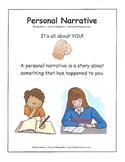 Personal Narrative /Anchor Chart / Graphic Organizer