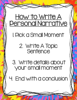 Narrative Writing Freebie!