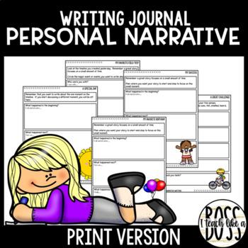 Personal Narrative Writing Journal