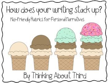Personal Narrative Writing Kid-Friendly Rubric