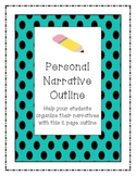 Personal Narrative Writing Outline 3rd-5th