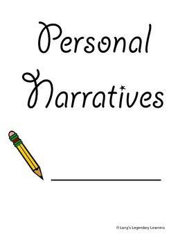 Personal Narrative Writing Packet