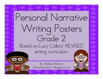 Personal Narrative Writing Posters - Grade 2
