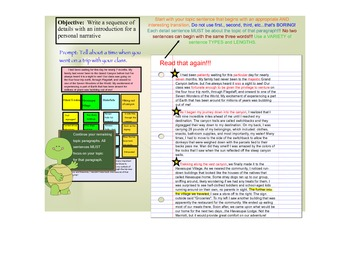 Personal Narrative Writing Process - Multi Paragraph