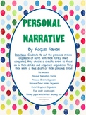 Personal Narrative Writing Project (Common Core - Writing W.2.3)