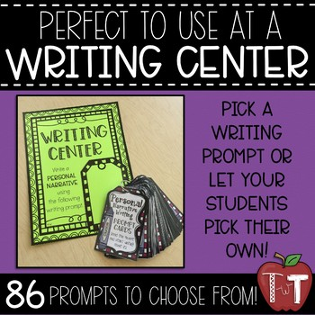 Personal Narrative Writing Prompt Cards
